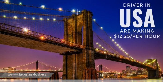 Average Salaries of uber eat driver in usa