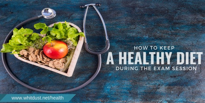How to keep a healthy diet during the exam session