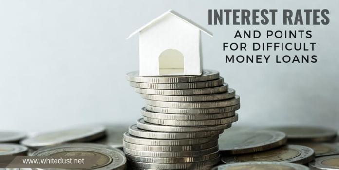 Interest Rates and Points for Difficult Money Loans