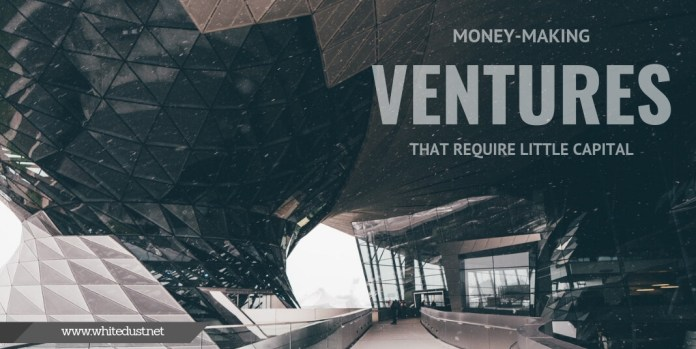 Money-Making Ventures that Require Little Capital