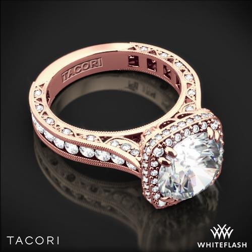 Tacori Royalt Cushion Style Bloom Diamond Engagement Ring 3077