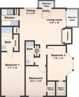 3 Bed / 2 Bath / 1250 ft² / Availability: Please Call / Deposit: $400 / Rent: $775
