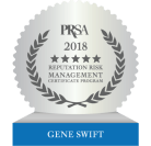 PRSA 2018 Reputation Risk Management Certificate - Gene Swift