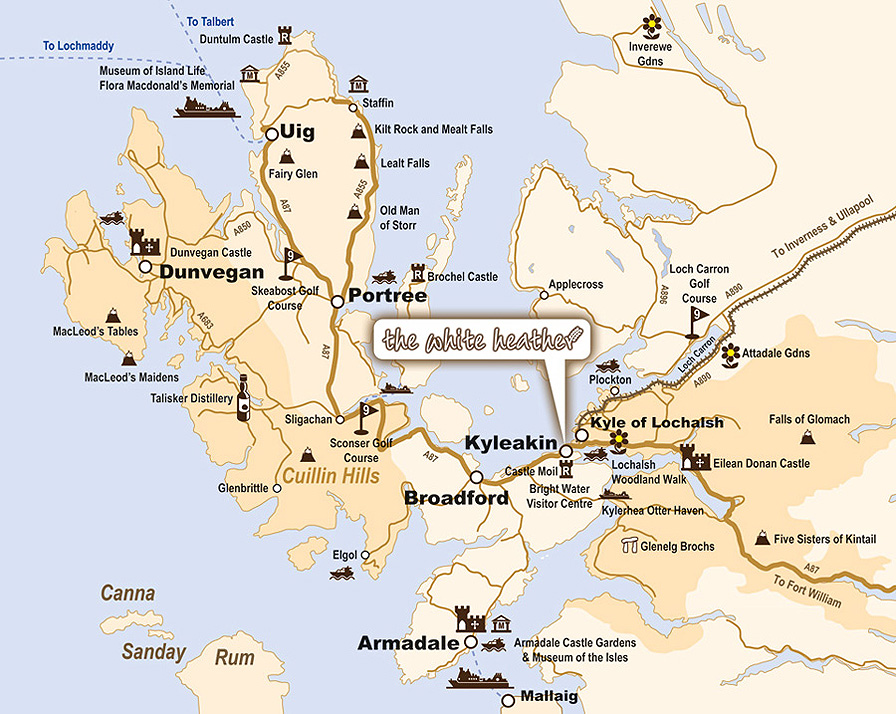 Image result for map of isle of skye