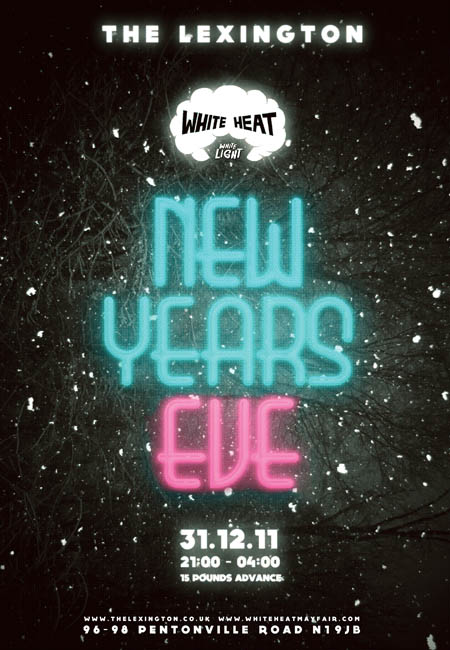 london club new year poster