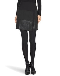 Mixed Texture Wrap Miniskirt