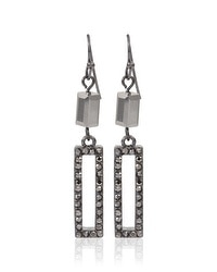 Hematite Rectangular Drop Earrings
