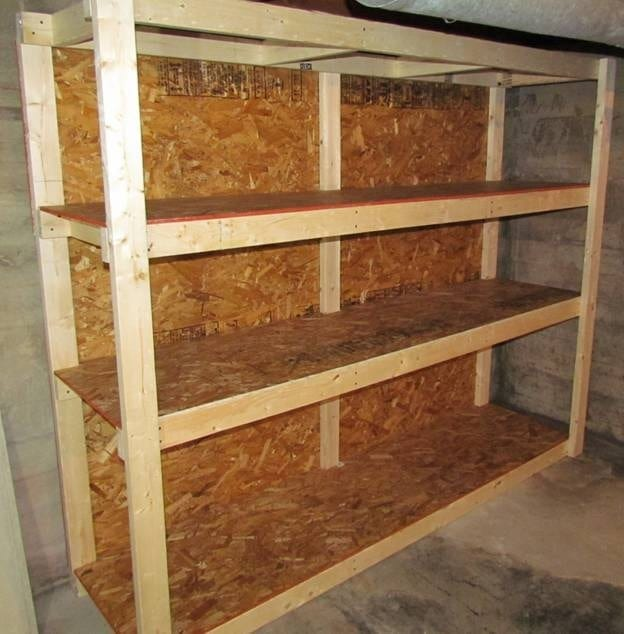 Storage Shelf Plans Basement Diy Blueprint Plans Download Home Made