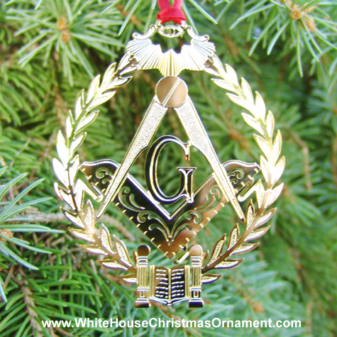 1994 Mount Vernon Three Great Lights Of Masonry Ornament