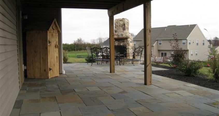 patio under deck extends outdoor living