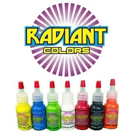 Radiant colors ink in the tattoo kit