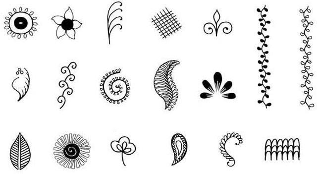 Henna tattoo stencils designs