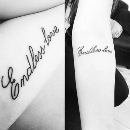 endless love tattoo design