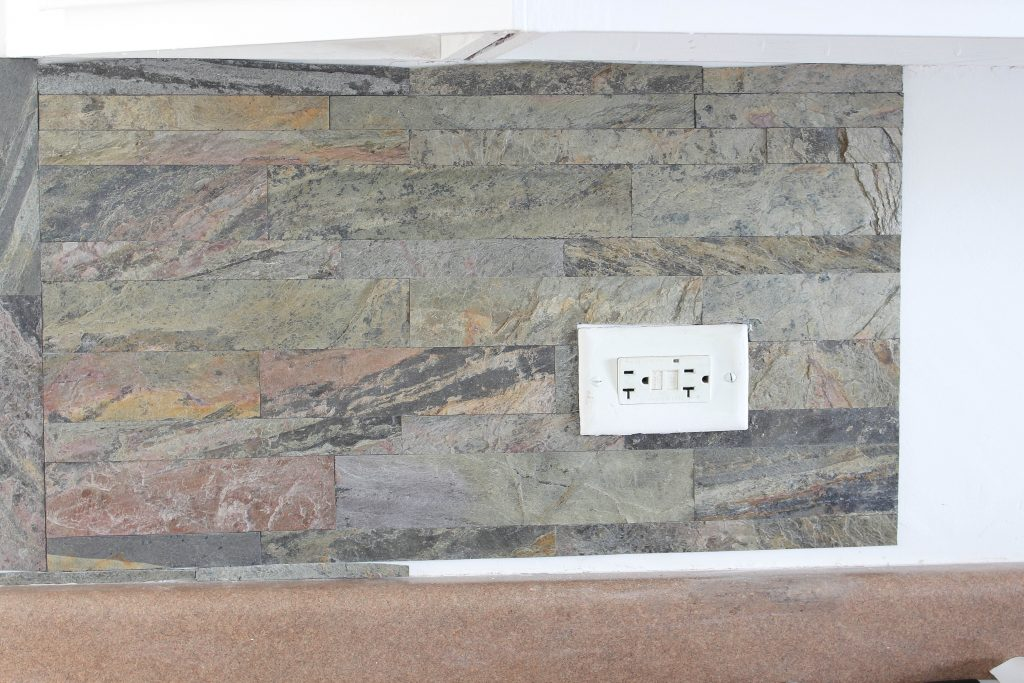 installing peel and stick stone aspect