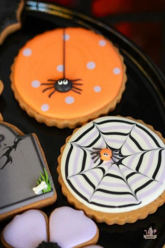 Spiderweb Sugar Cookies