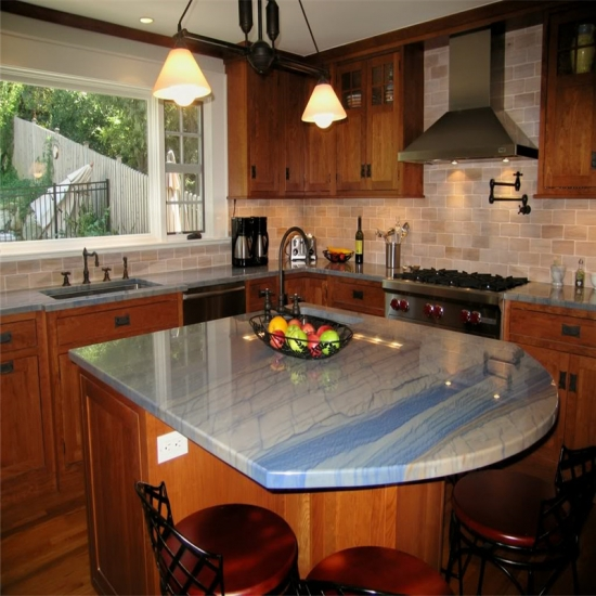 Best Kitchen Benchtop Azul Macaubas Blue Granite Kitchen