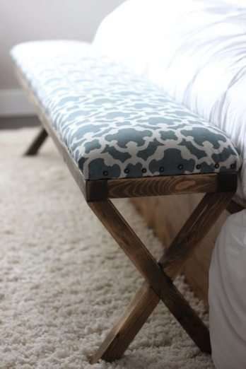 Easy DIY Upholstered Bench