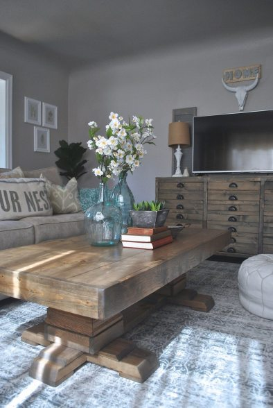 https://www.whitepicketfarmhouse.com/pedestal-coffee-table/ ,Shanty2chic Coffee Table, easy DIY Coffee Table, Pedestal Coffee Table