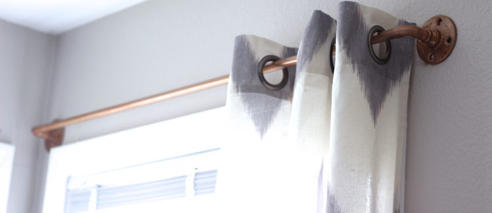 DIY Curtain Rod, West Elm DIY, Easy DIY, Copper Curtain Rod