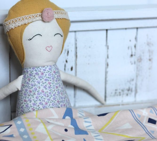Small Business Feature [ Cotton Fox ] & Doll Farmhouse Bed DIY