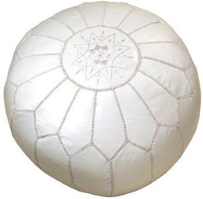https://api.shopstyle.com/action/apiVisitRetailer?id=471928353&pid=uid7969-33980313-29 Leather White Moroccan Pouf, Dot and Bo, Top 10 Farmhouse Decor