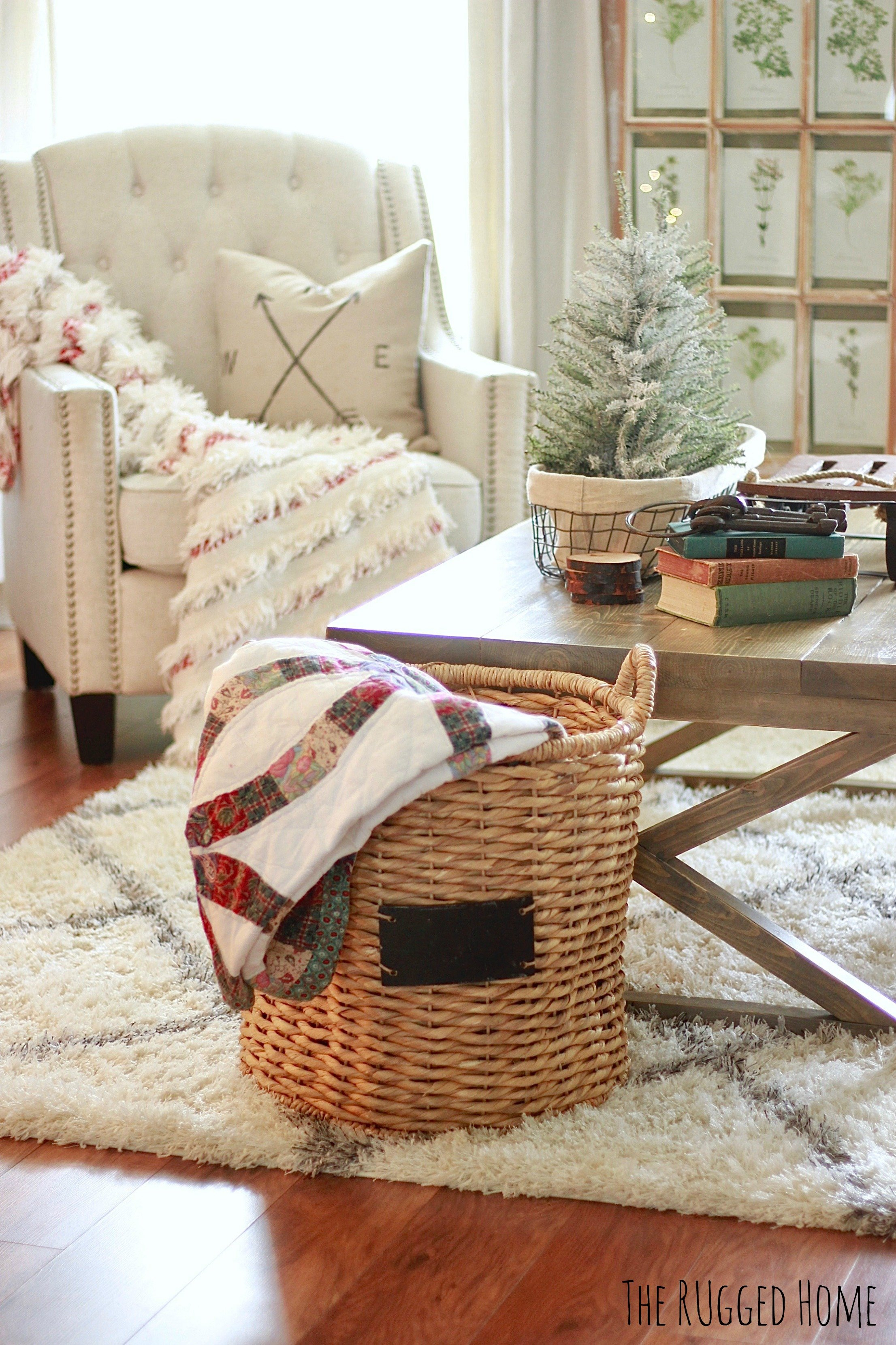 Our Christmas Living Room White Picket Farmhouse