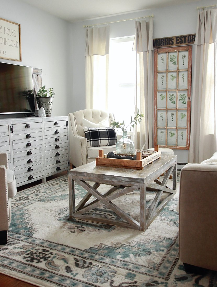 Top 10 Farmhouse Blue Rugs www.whitepicketfarmhouse.com