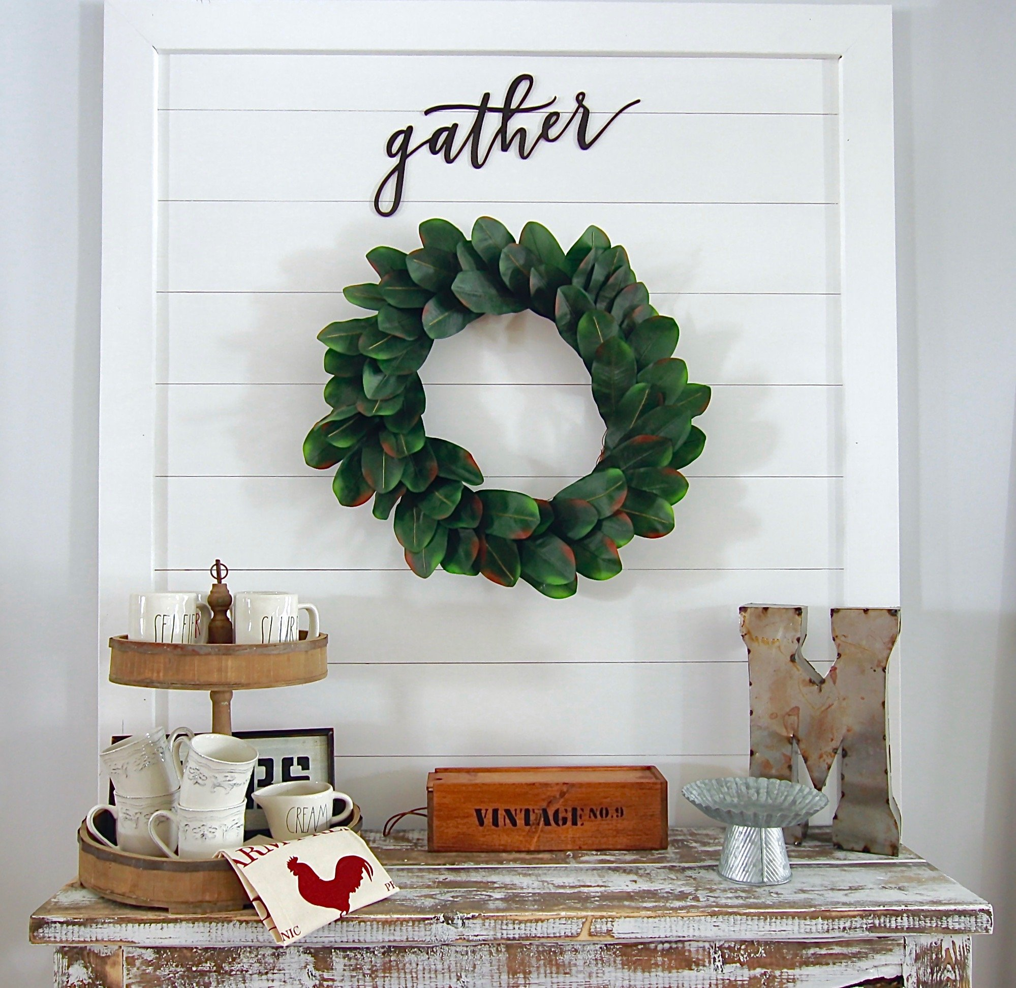 DIY Easy Shiplap Wall hanging Sign www.whitepicketfarmhouse.com