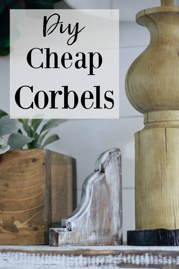 DIY Cheap Corbels. Make the cheapest & easiest Corbles ever out of wooden brackets www.whitepicketfarmhouse.com