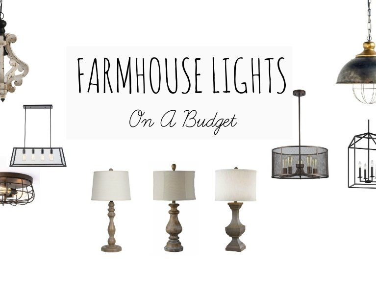 Farmhouse Lights On A Budget www.whitepicketfarmhouse.com