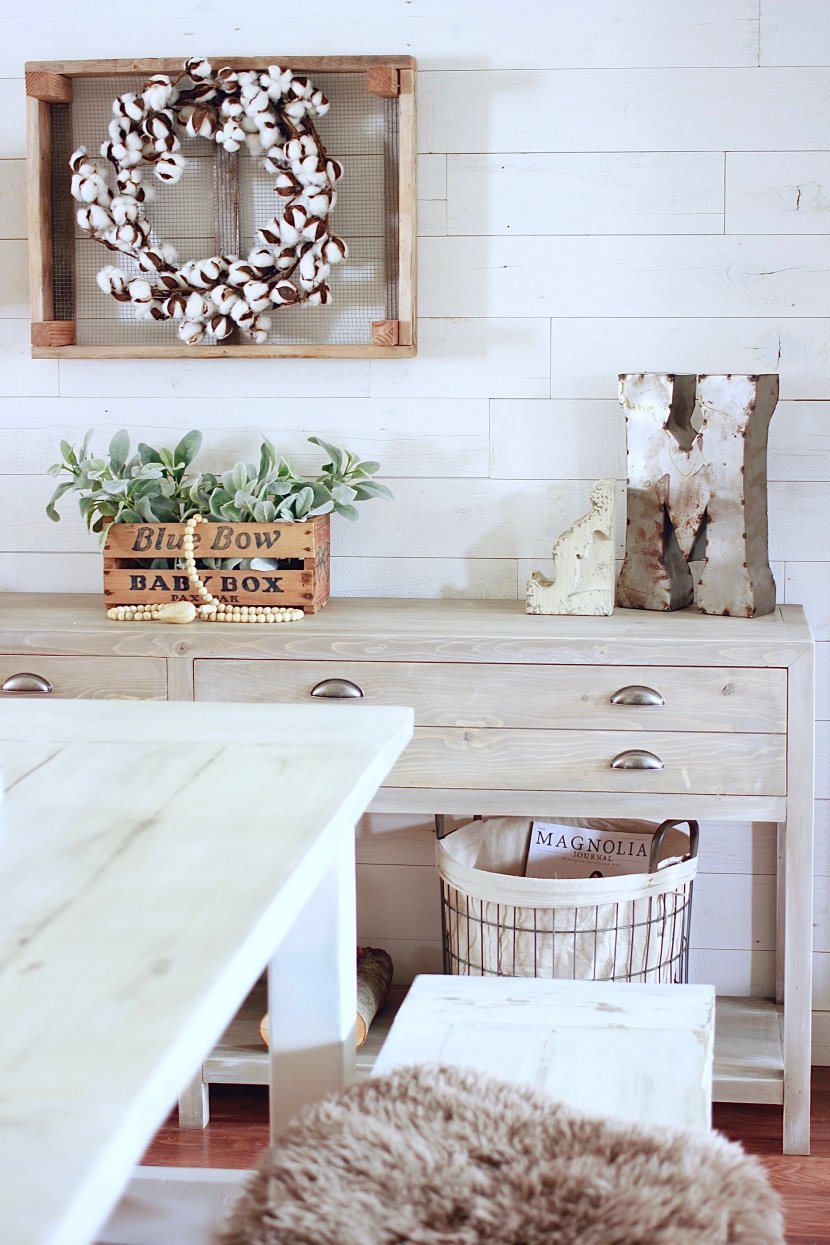Stikwood Collaboration With The Rugged Home www.whitepicketfarmhouse.com Plank Wall, DIY Ship Lap