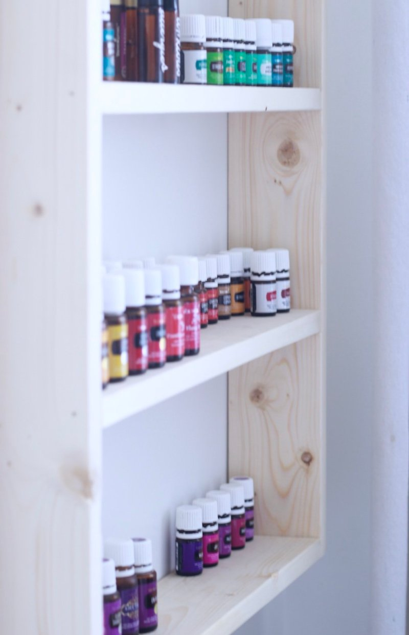 5 dollar essential oil shelf