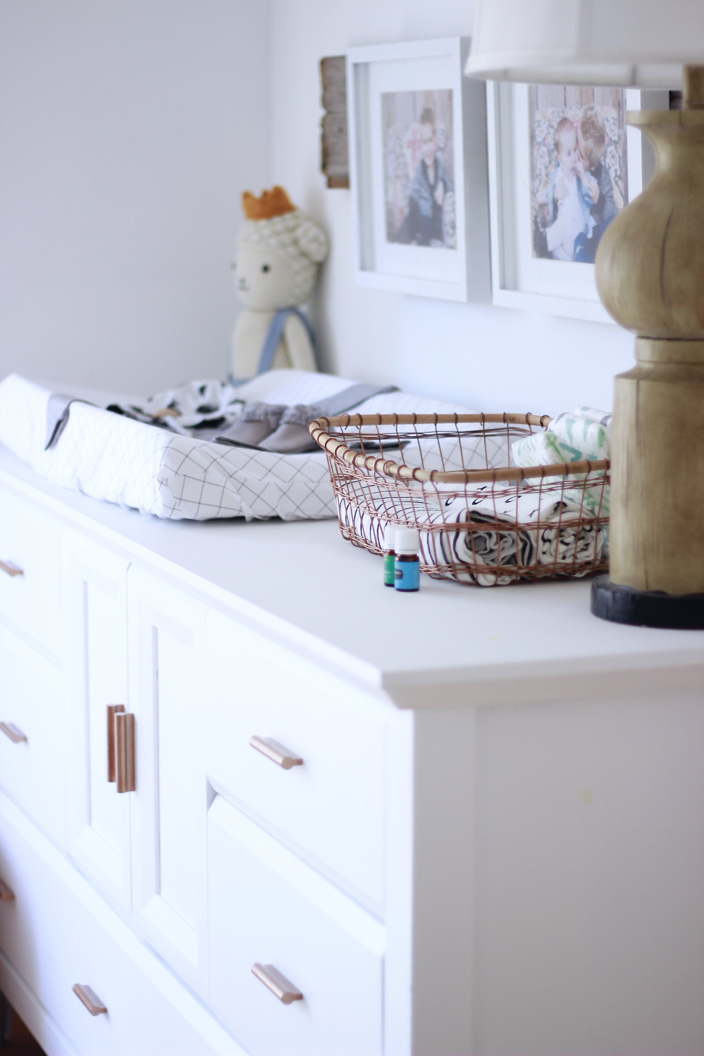 What's in Rhetts Dresser. A list of Baby Items you Need coming from a mama of 3 almost 4. #baby #listofbabyitems #trendybabyitems