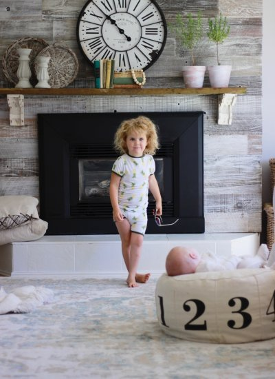 Fireplace Makeover With Plank and Mill