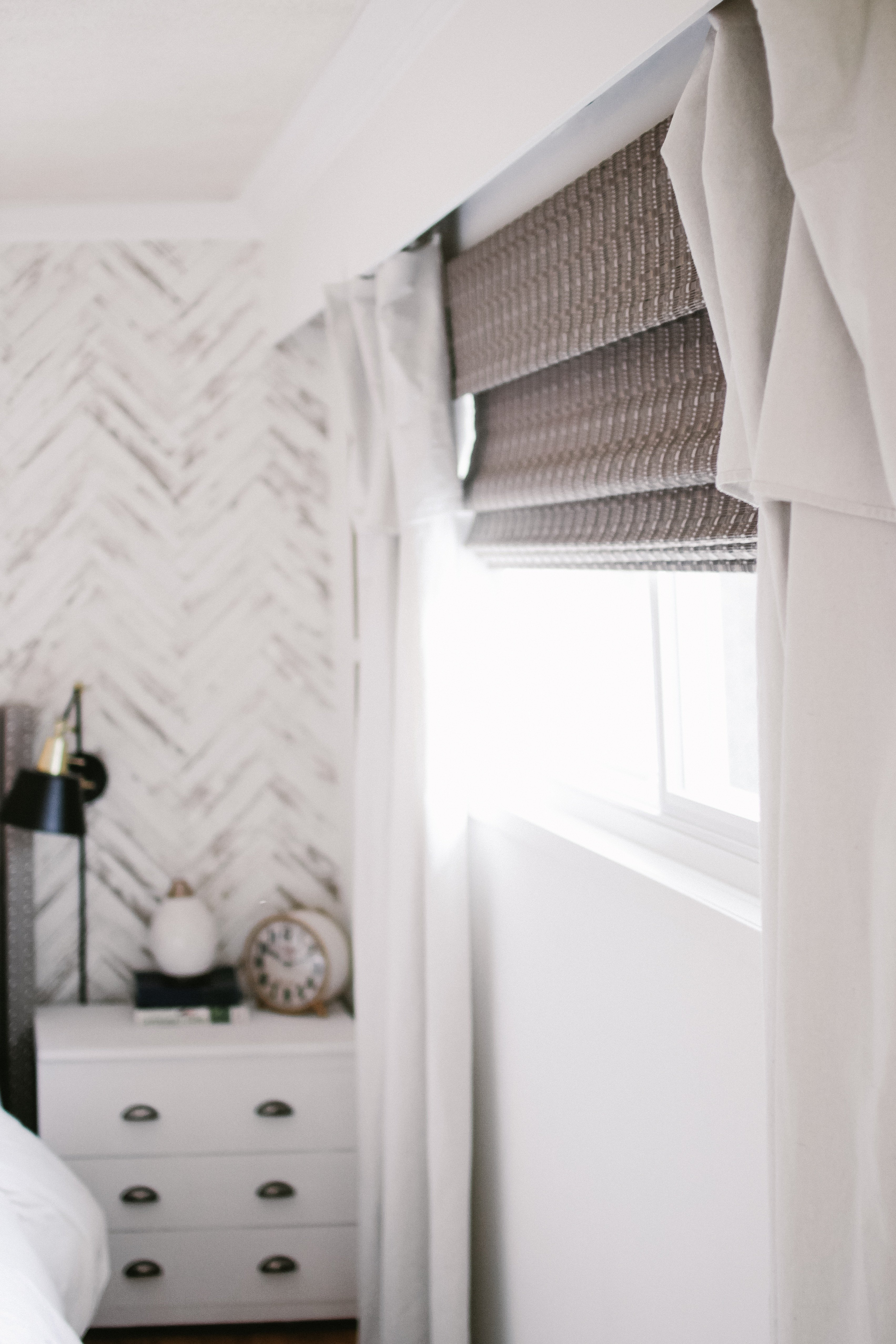 Our Cozy Modern Farmhouse Bedroom. How we decorated our old dingy 70's bedroom on a budget