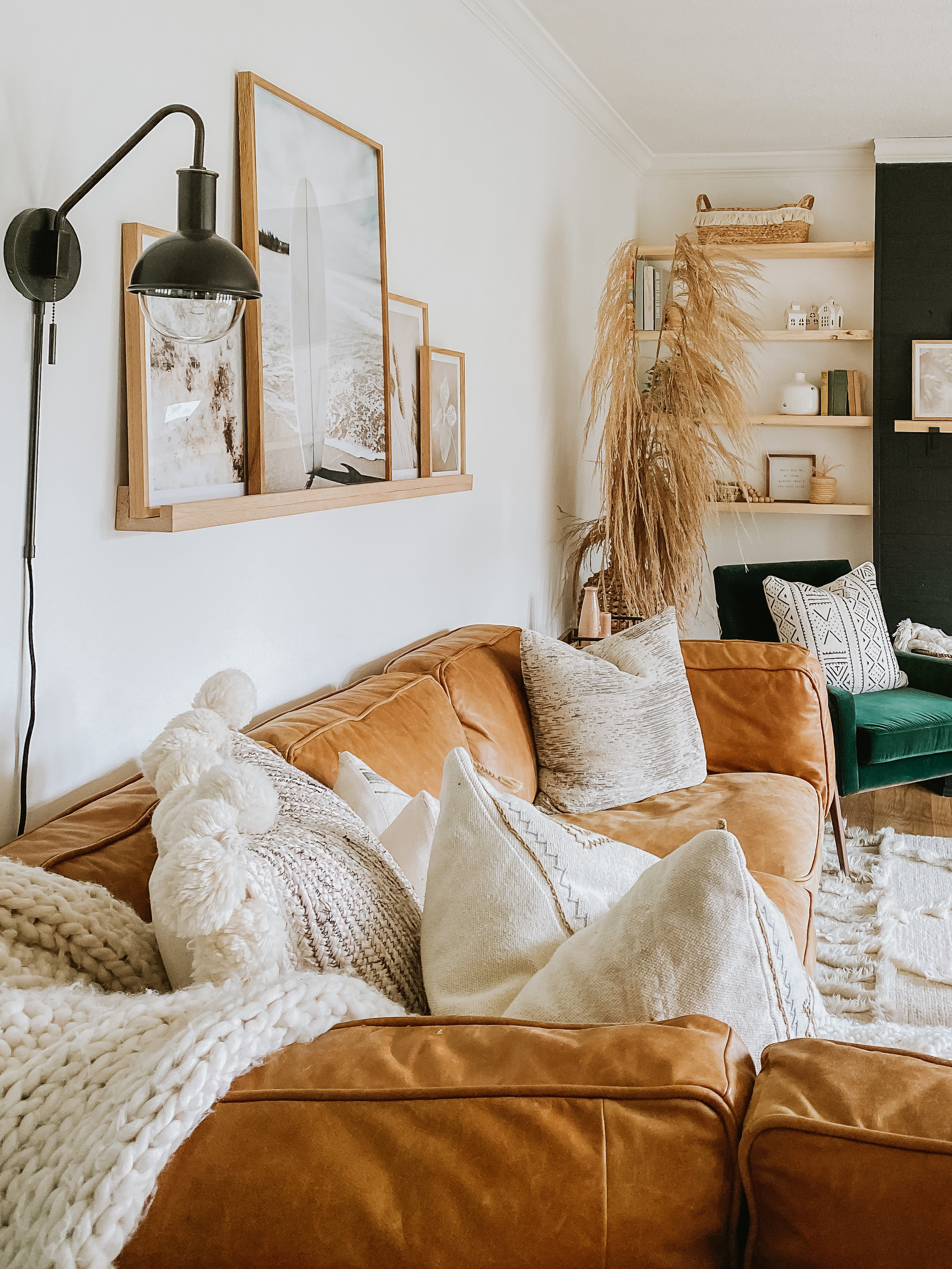 How To Create a Cohesive Picture Wall In Your Own Space. Layering Photographs, Painting and Abstract Art. Super Easy In Any style of Room