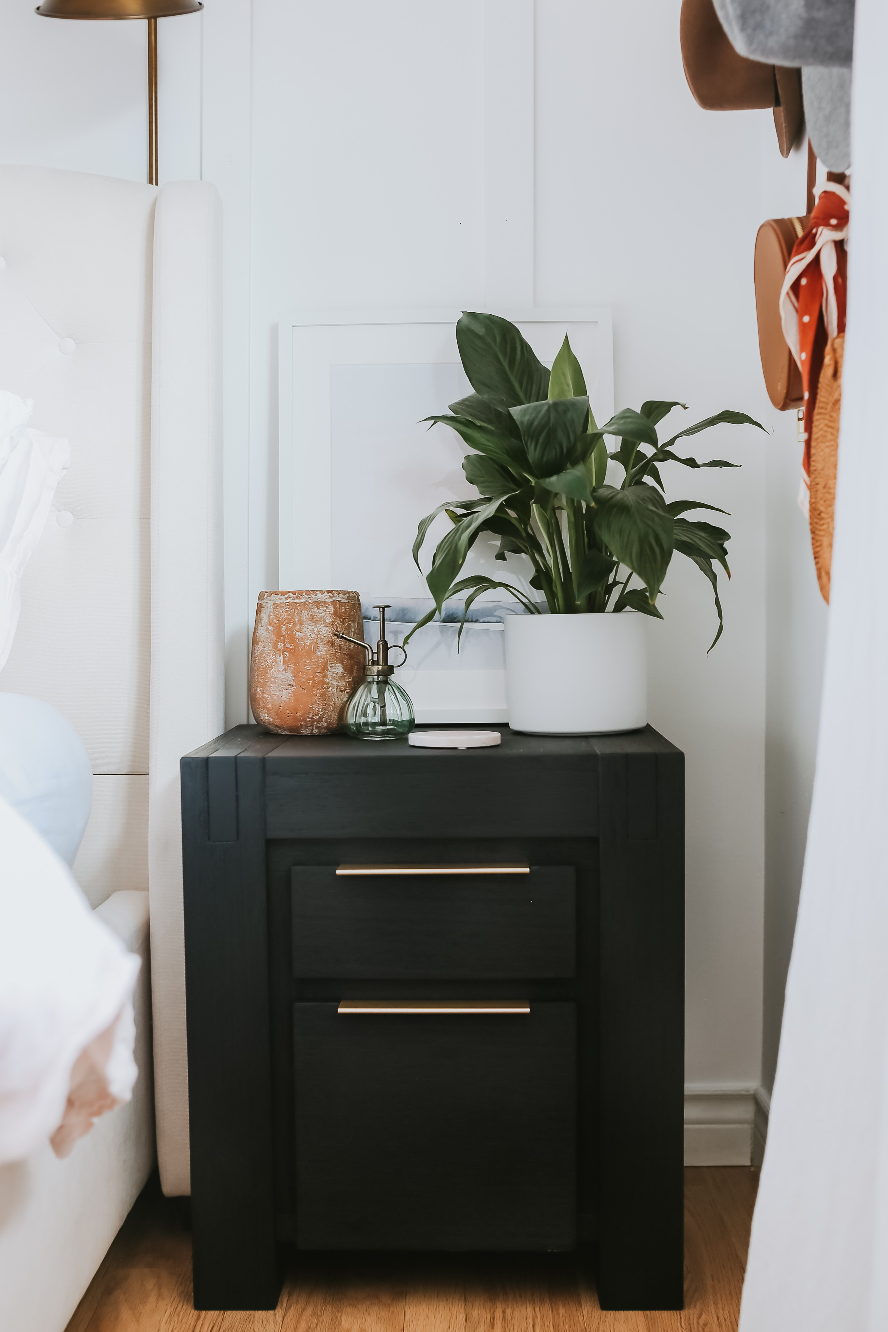 Painted Black SideTables - Easy DIY. Also A Paint Store that does curbside delivery if you can't get out. The Finish and Colour I used