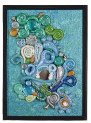 Curled Water by Heather Miller of WhiteRosesArt.com