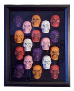 Colored Skulls by Heather Miller of WhiteRosesArt.com