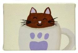 Cattucino II by Heather Miller of WhiteRosesArt.com