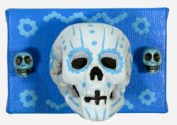 3 Little Skulls in Blue (WhiteRosesArt.com)
