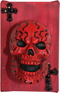 Red Muertos - by Heather Miller of WhiteRosesArtcom