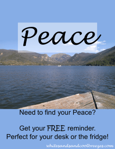 Need to find your Peace? Get your free printable reminder here.