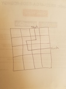 3 Easy Team Building Exercises. The Hidden Maze mapped out on a piece of paper. Come check the other ideas out.