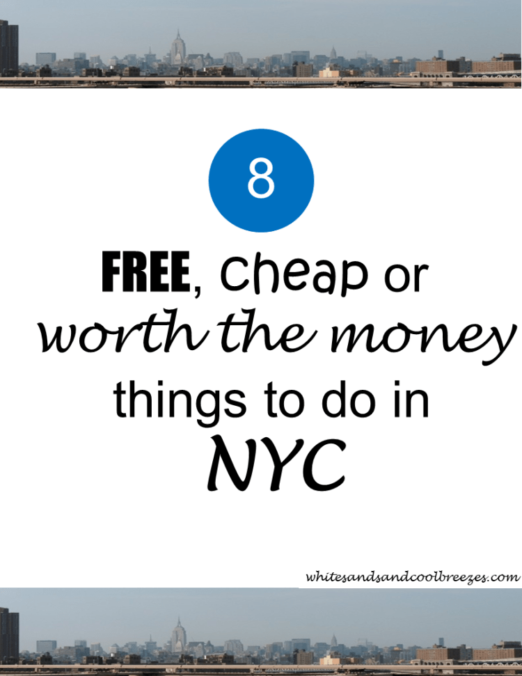 8 free, cheap or worth the money things to do in NYC. Are you planning a trip to New York City? Afraid your New York city visit is going to be too expensive to really enjoy your time? Well, let me tell you there's plenty to enjoy without spending a lot! Let me show you. #nyc #travel #newyorkcity