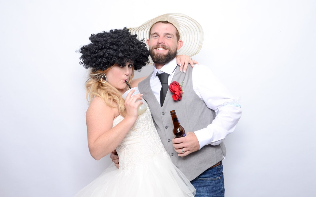 Brittany and Colby's Wedding Photo Booth – Julieanna's Patio Cafe