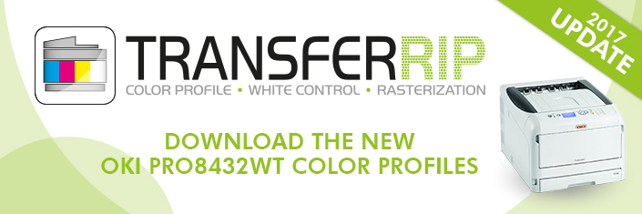 Download the OKI Pro8432WT FOREVER TransferRIP Color Profiles