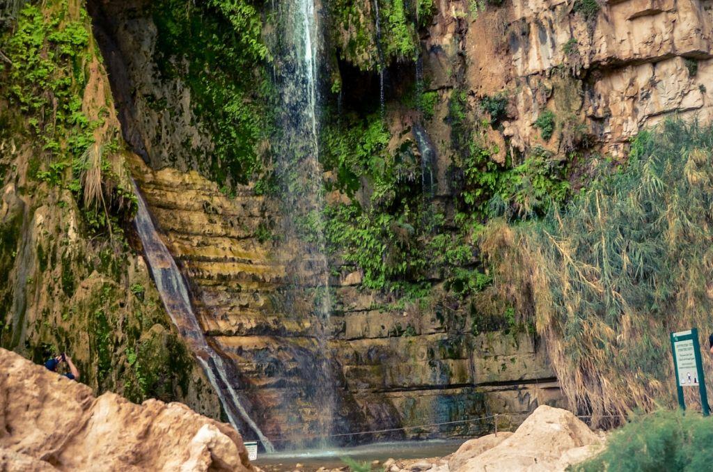 Wodospad Park Ein Gedi