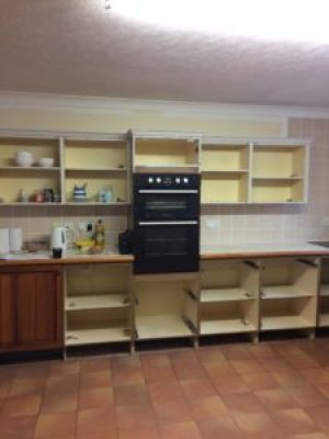 kitchen cabinet makeover in progress 1 e1500843294333 225x300 - Happy New Year - a nod to the year gone and exciting plans for the future