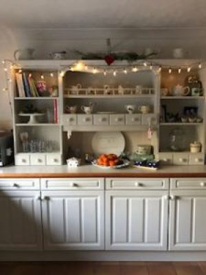kitchen dresser at Christmas 1 e1500927651472 225x300 - A Kitchen Makeover in time for Christmas